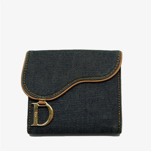 Monedero denim saddle Dior