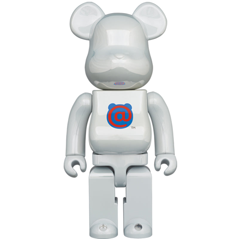 BE@RBRICK 1st MODEL WHITE CHROME 400%