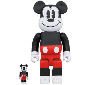 BE@RBRICK MICKEY MOUSE (R&W 2020 Ver.) 100% & 400% Set