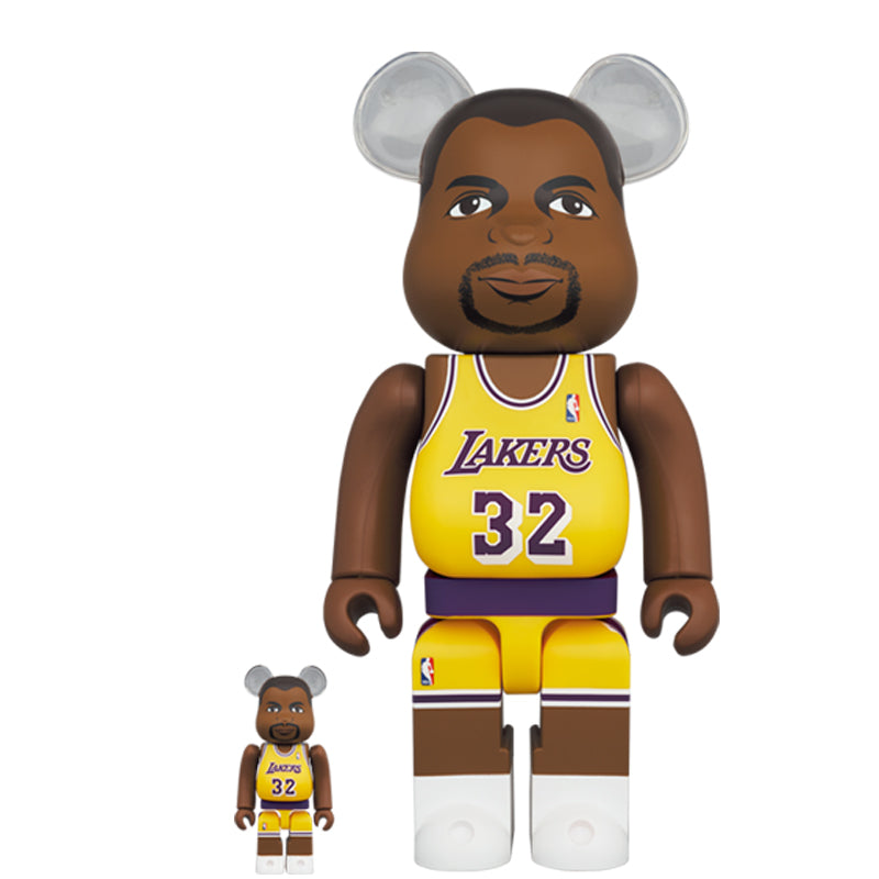 BE@RBRICK Magic Johnson (Los Angeles Lakers) 100% & 400% SET