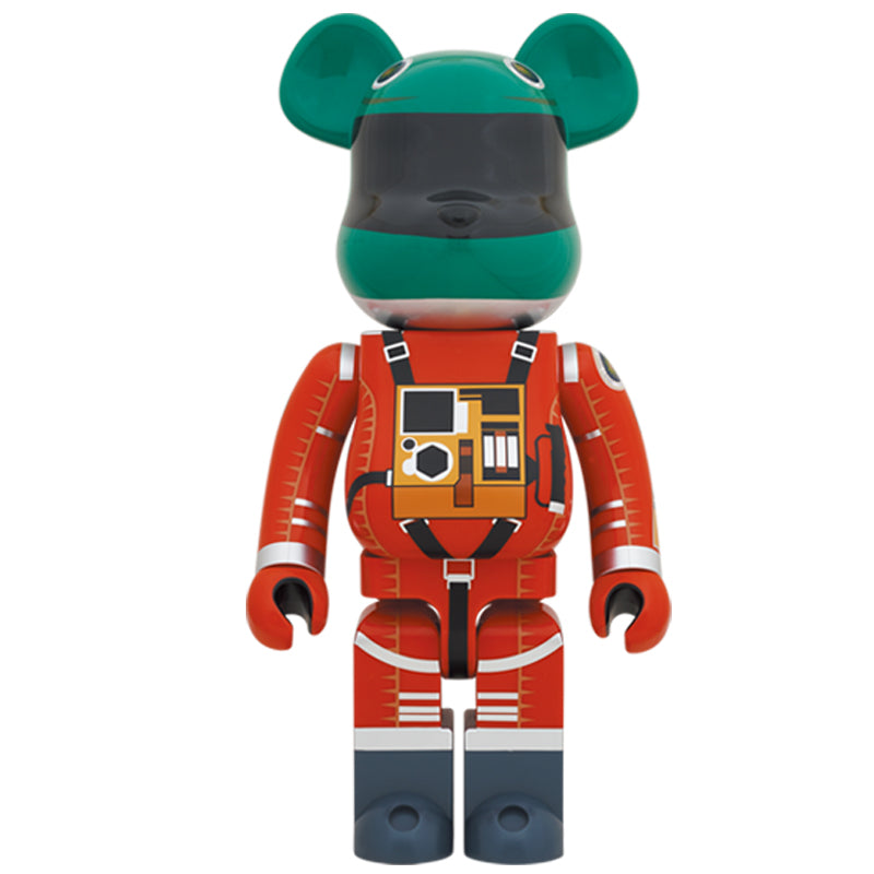 BE@RBRICK SPACE SUIT GREEN HELMET & ORANGE SUIT Ver. 1000%