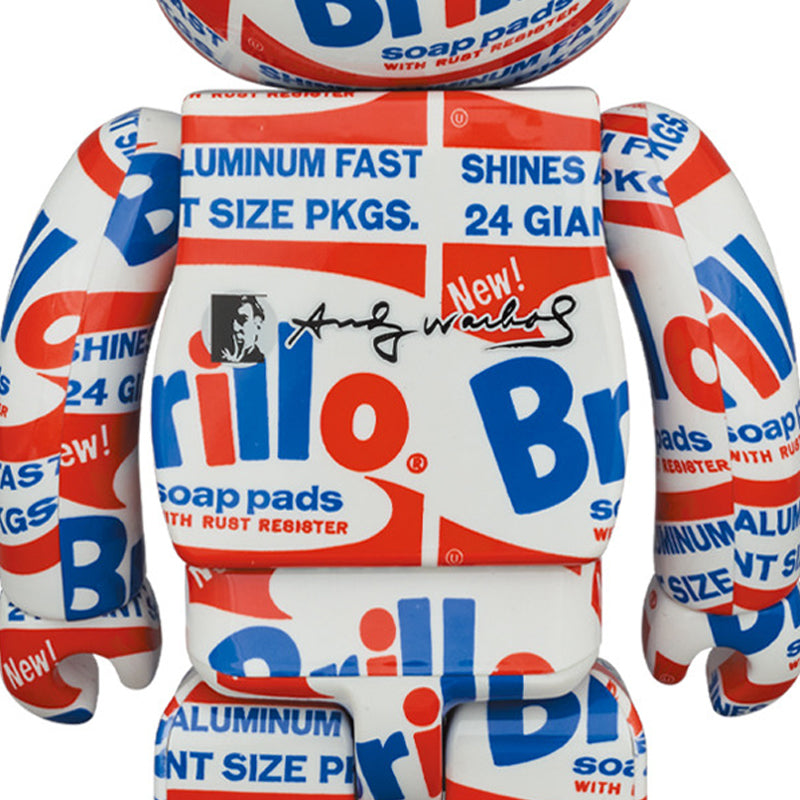 "BE@RBRICK ANDY WARHOL ""Brillo"" 100% & 400% Set"