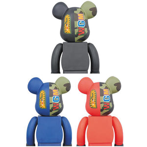 BAPE Shark Camo Bearbrick 400% set