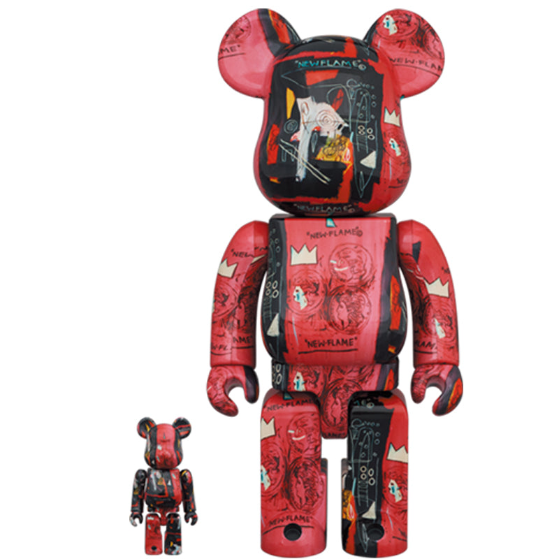 BE@RBRICK Andy Warhol × Jean-Michel Basquiat #1 100% & 400% Set