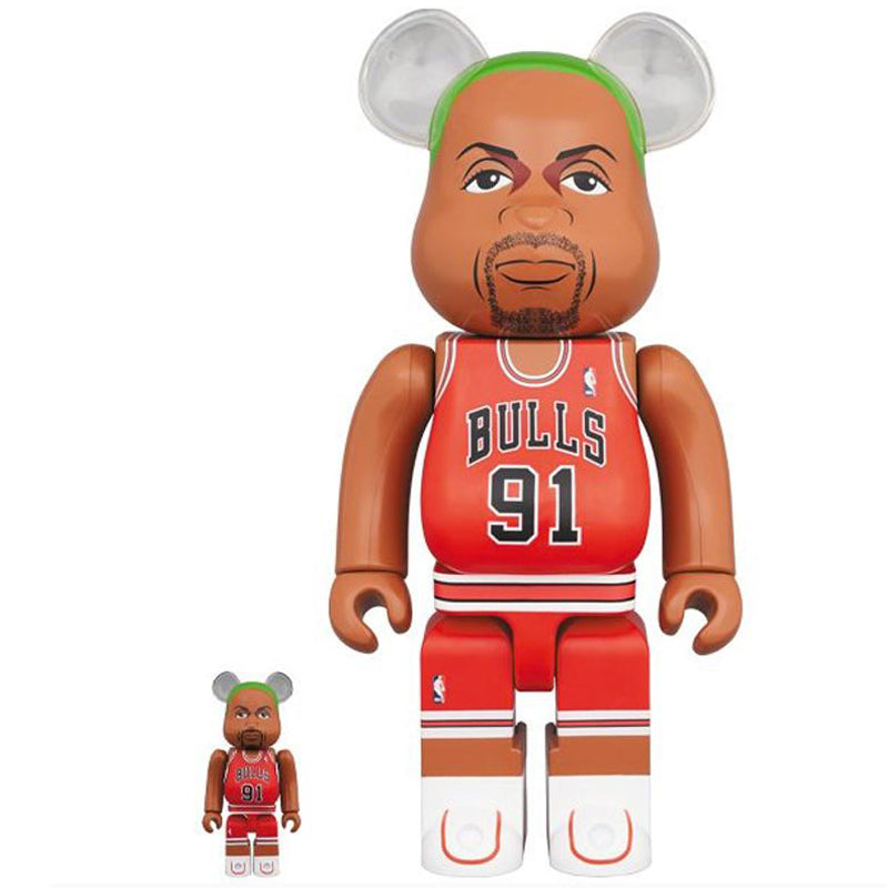 BE@RBRICK Dennis Rodman(Chicago Bulls)100% & 400% Set