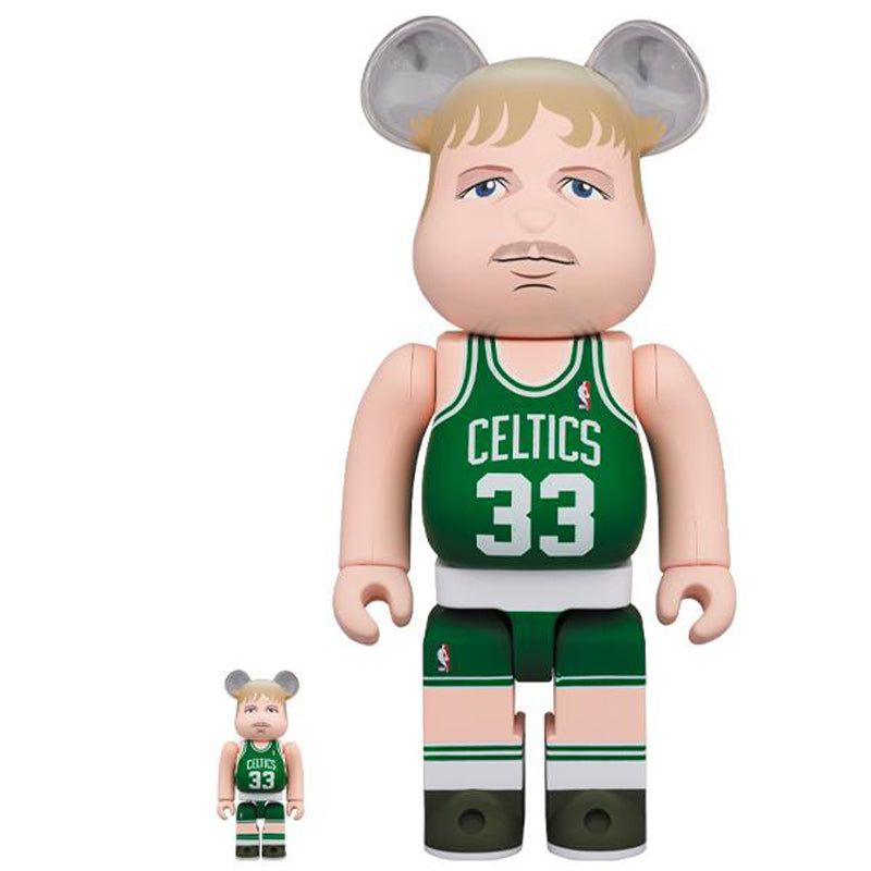 BE@RBRICK Larry Bird (Boston Celtics) 100%&400% set