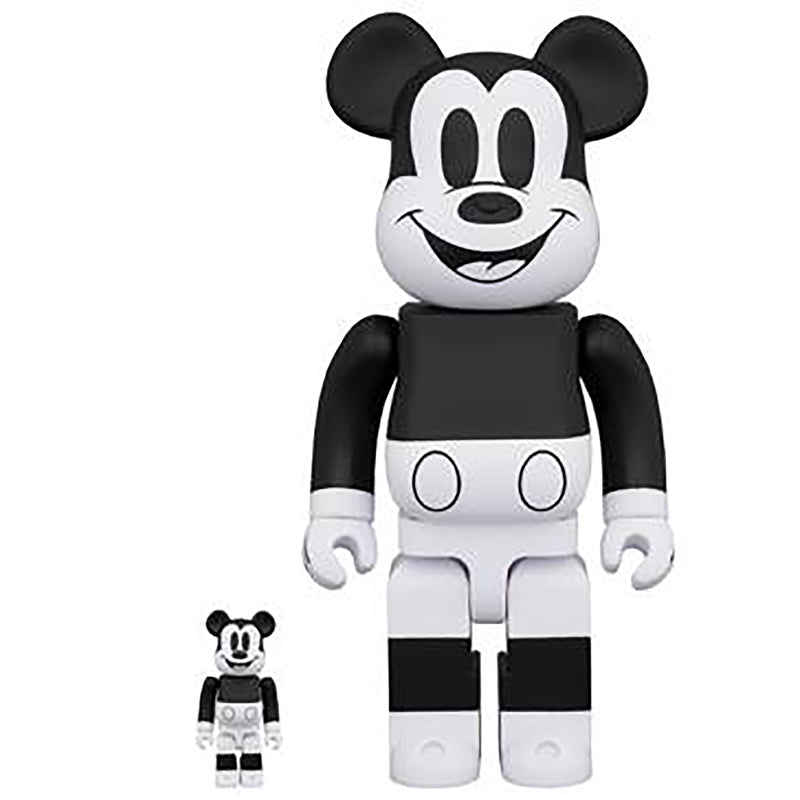 BE@RBRICK MICKEY MOUSE (B&W 2020 Ver.) 100% & 400% set
