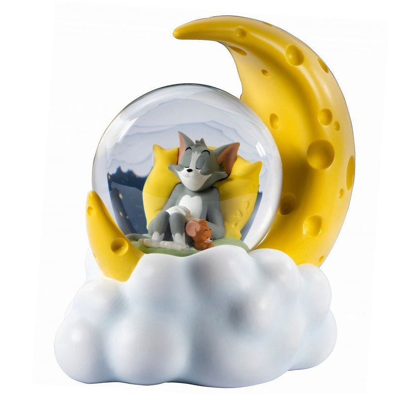 Tom and Jerry Cheese Moon Snow Globe