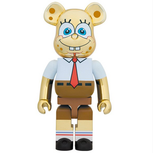 BEARBRICK SpongeBob Gold Chrome 1000%