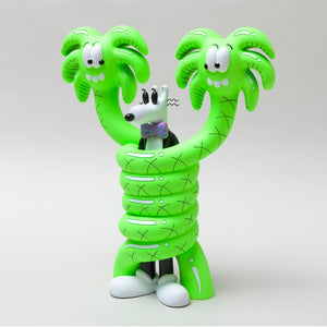 """GOTCHA"" Sculpture Neon Green - Steven Harrington"