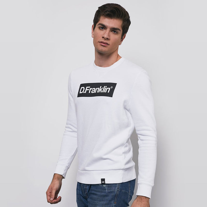 Black / White Rec Sweatshirt - White