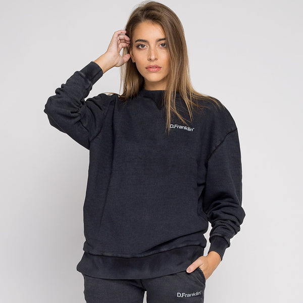 Sweatshirt Oversized Basic Black