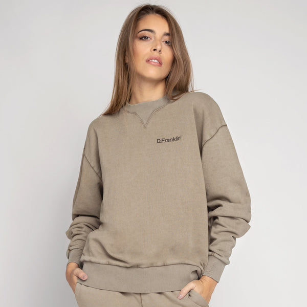 Sweatshirt Oversized Basic Sand