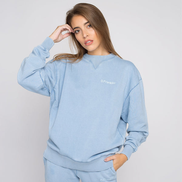 Sweatshirt Oversized Basic Blue