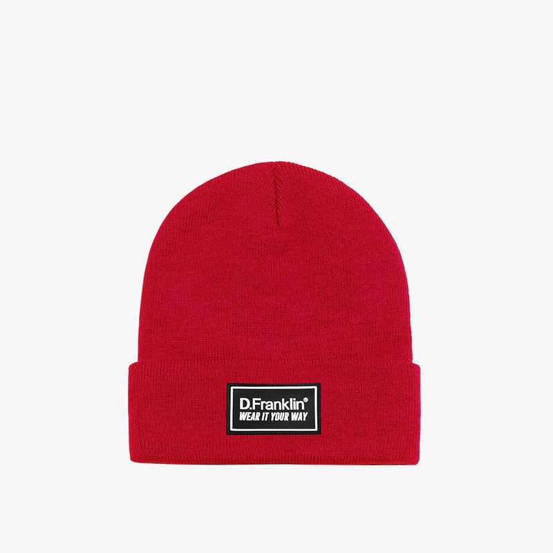 Mountain Red Beanie
