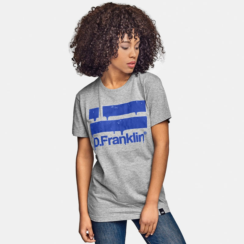 Logo Intense Blue Tee Grey