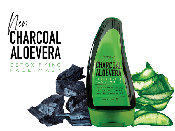 Combo 3 Charcoal Aloevera Detoxifying Face Mask