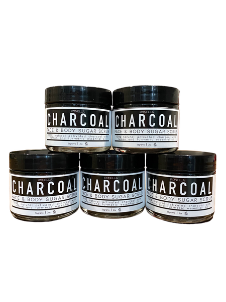 Charcoal Face and Body Sugar Scrub