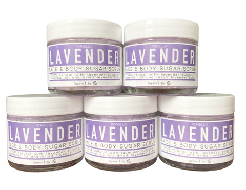 Lavender Face & Body Sugar Scrub
