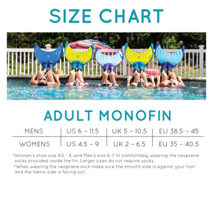 Adult Mermaid Linden Monofin by Body Glove - Caribbean Blue