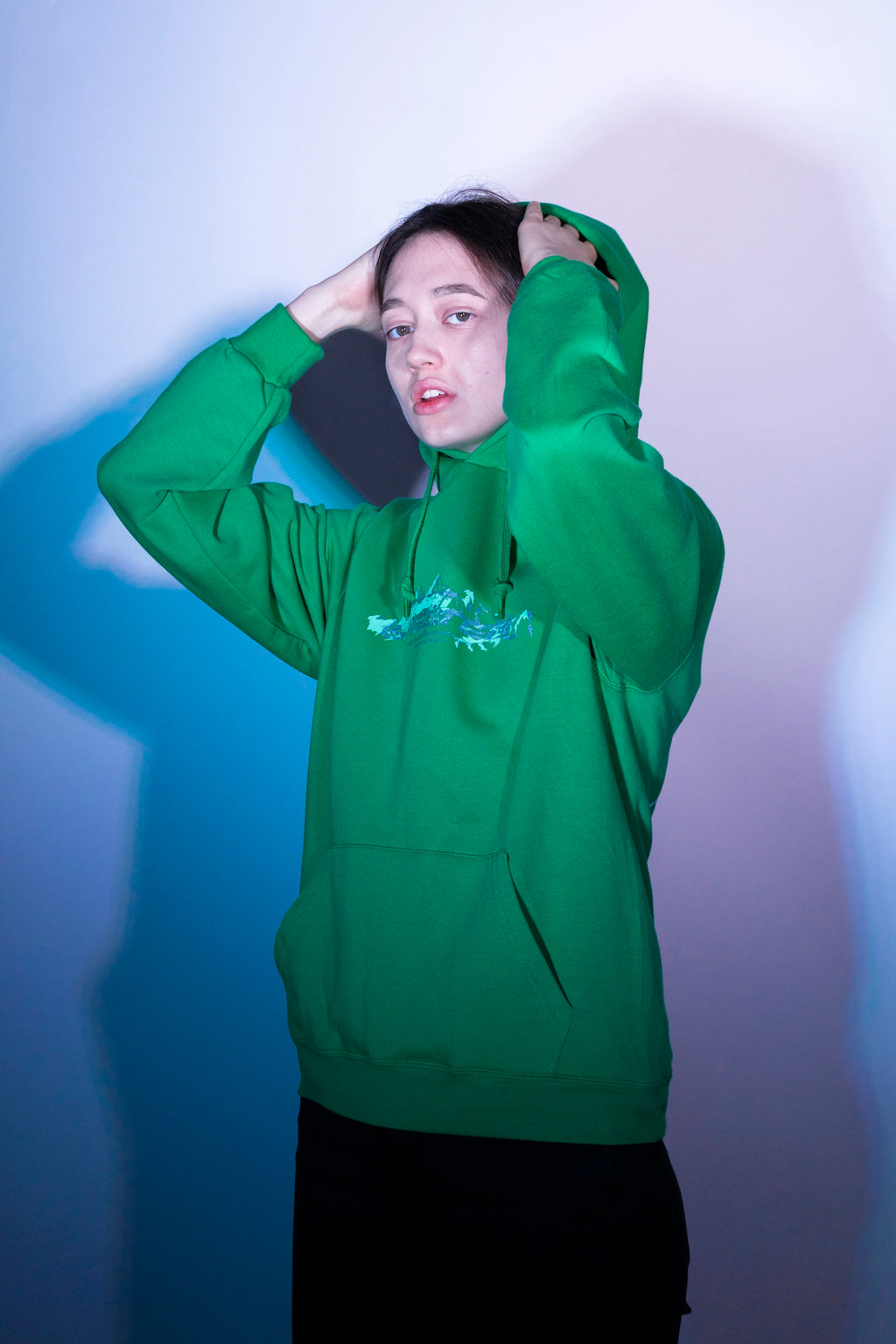 SHELTER Green Hoodie