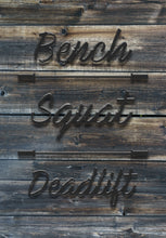 Load image into Gallery viewer, Bench, Squat, Deadlift - Dark Aged Wood Canvas Print