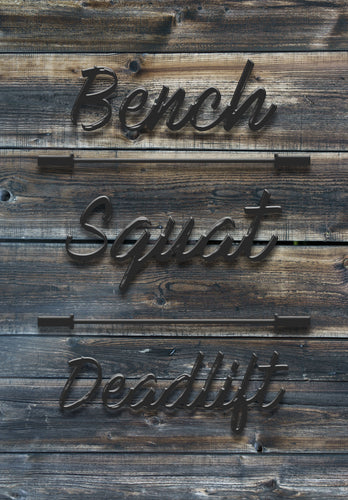 Bench, Squat, Deadlift - Dark Aged Wood Canvas Print