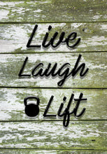 Load image into Gallery viewer, Live Laugh Lift - Mossy Wood Canvas Print