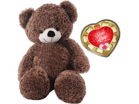 100cm Teddy And Chocolate