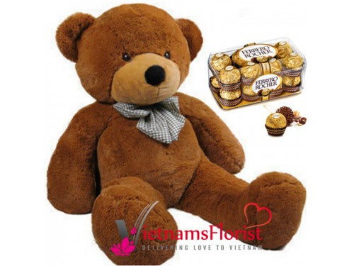 80cm Teddy And Chocolate