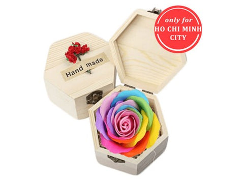 Sweet Preserved Rainbow Rose