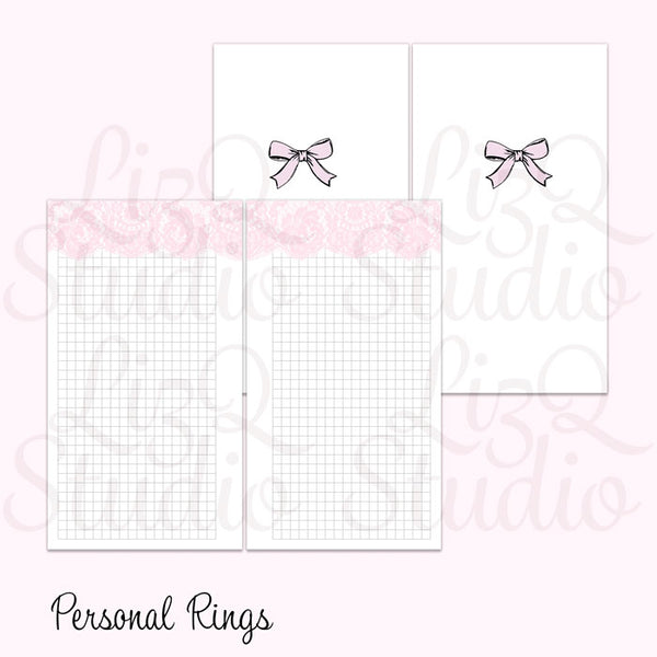 014 Lace Grid Pink