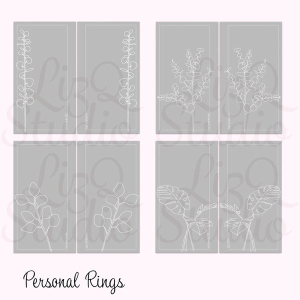 QD-007 Line Art Botanicals Gray