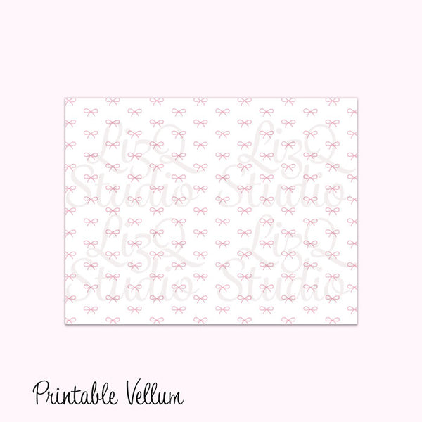 QL-002 Pink Simple Bow *PRINTABLE*