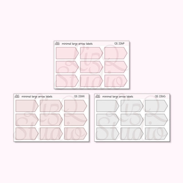 QS-226 Minimal Large Arrow Labels