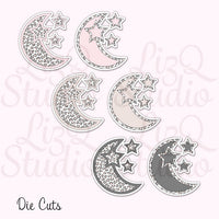 QX-006 Leopard Moon Die Cuts