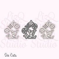 QX-011 Heart Leopard LV Love Die Cut