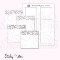 QN-001 Pink Leopard Sticky Notes