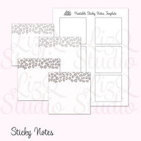 QN-002 Snow Leopard Sticky Notes