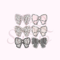 082 Leopard Bow Grid