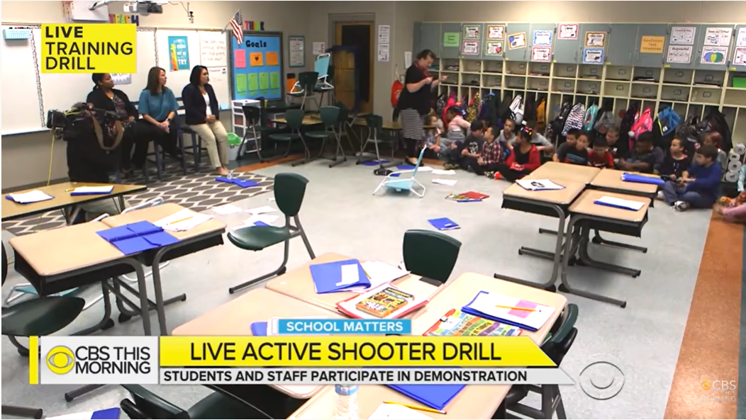 active shooter drill for 4th graders