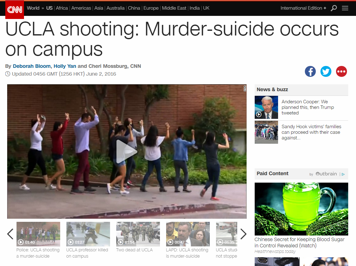 CNN Article on UCLA Shooting