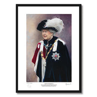 Framed Record Reign Portrait by Alastair Barford