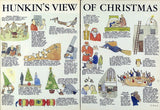 Hunkin's view of Christmas. 2 x colour illustrations