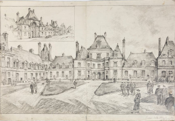 Fontainebleau Imperial chateau, post WW2. By Bryan de Grineau