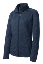 Load image into Gallery viewer, Port Authority Ladies Digi Stripe Fleece Jacket