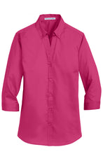 Load image into Gallery viewer, Port Authority® Ladies 3/4-Sleeve SuperPro™ Twill Shirt