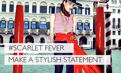 Scarlet Fever - A Red Pashmina Is The Only Accessory You Need