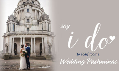 "Say ""I do"" to Scarf Room's Wedding Pashminas"
