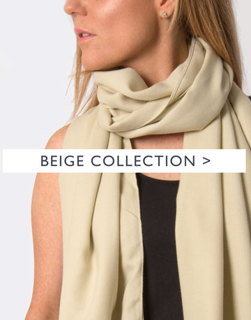 an image showing a beige scarf